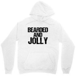 funny christmas  bearded and jolly Unisex Hoodie | Artistshot