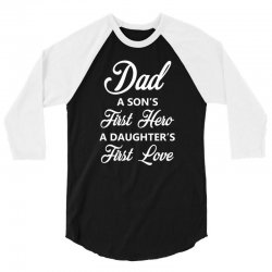 fathers day 3/4 Sleeve Shirt   Artistshot