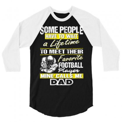 Football Player's Dad - Father's Day - Dad Shirts 3/4 Sleeve Shirt Designed By Davidph