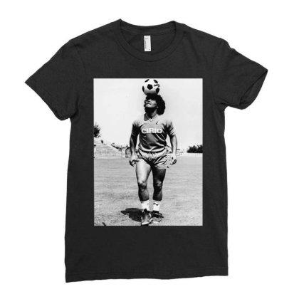 Diego Armando Maradona Napoli Calcio Ladies Fitted T-shirt Designed By Jurdex Tees