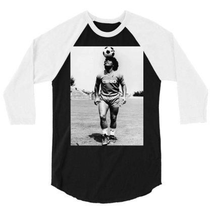Diego Armando Maradona Napoli Calcio 3/4 Sleeve Shirt Designed By Jurdex Tees