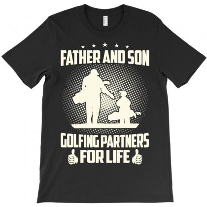 Father And Son Golfing Partners - Dad Shirts T-shirt Designed By Davidph