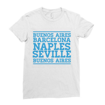 Buenos Aires Ladies Fitted T-shirt Designed By Fahmifutri