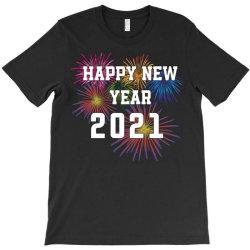 Happy New Year 2021 With Fireworks T-shirt Designed By Sukhendu12