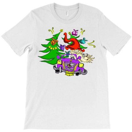 Christmas Gnome Car T-shirt Designed By Badaudesign