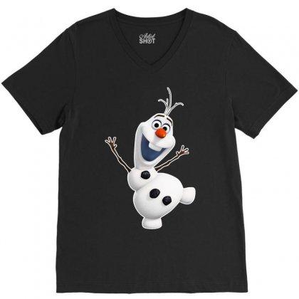 Olaf Snowman Frozen V-neck Tee Designed By Jafarnr1966