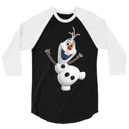Olaf Snowman Frozen 3/4 Sleeve Shirt Designed By Jafarnr1966