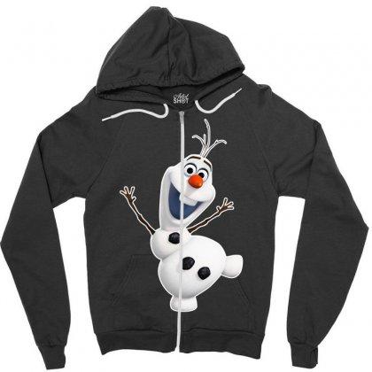Olaf Snowman Frozen Zipper Hoodie Designed By Jafarnr1966