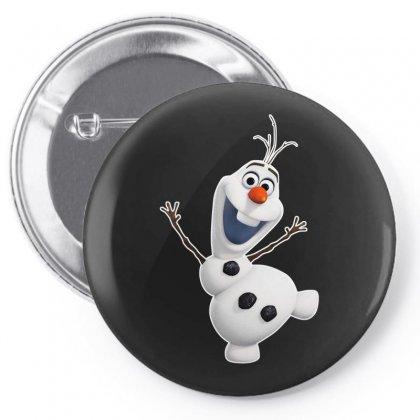 Olaf Snowman Frozen Pin-back Button Designed By Jafarnr1966