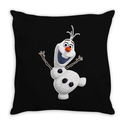 Olaf Snowman Frozen Throw Pillow Designed By Jafarnr1966