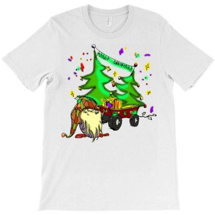 Merry Christmas Farm Gnome T-shirt Designed By Badaudesign