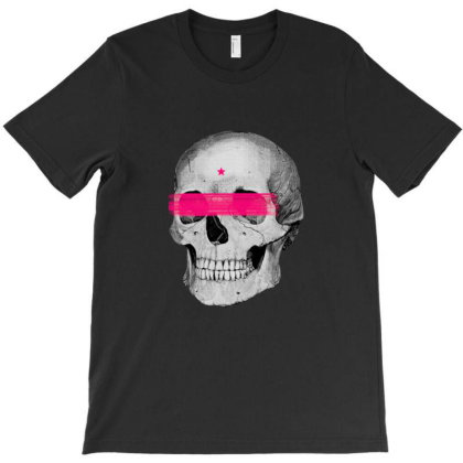 Skull Star T-shirt Designed By Manyprints