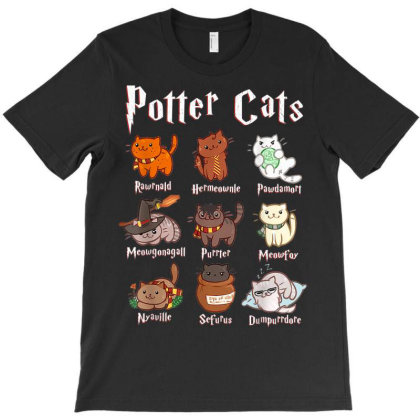 Potter Cats T-shirt Designed By Welcome12