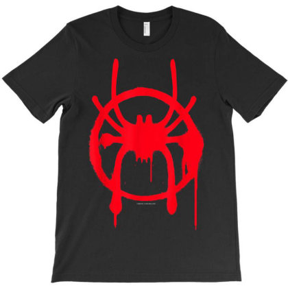 Spiderverse Miles Symbol Tag T-shirt Designed By Welcome12
