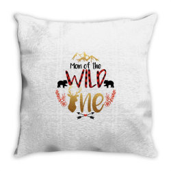 Mom Of The Wild One Throw Pillow | Artistshot