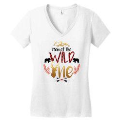 Mom Of The Wild One Women's V-Neck T-Shirt | Artistshot