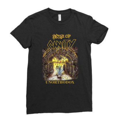 Edge Of Sanity Unorthodox Ladies Fitted T-shirt Designed By Funtee