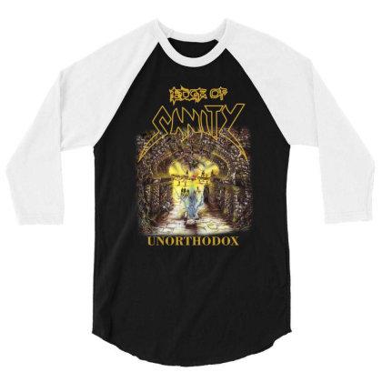 Edge Of Sanity Unorthodox 3/4 Sleeve Shirt Designed By Funtee