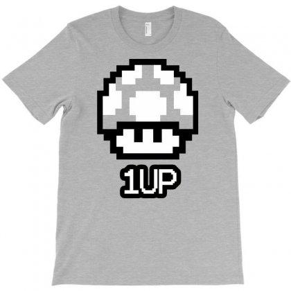 One Up Mushroom Super Mario Brothers T-shirt Designed By Jafarnr1966