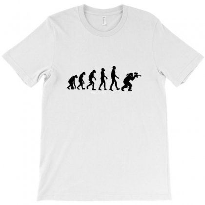 Paintball Evolution T-shirt Designed By Jafarnr1966