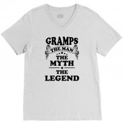 Gramps The Man The Myth The Legend V-Neck Tee   Artistshot