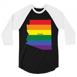 arizona rainbow flag 3/4 Sleeve Shirt | Artistshot