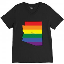 arizona rainbow flag V-Neck Tee | Artistshot