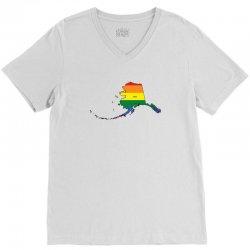 alaska rainbow flag V-Neck Tee | Artistshot