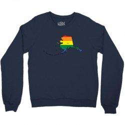 alaska rainbow flag Crewneck Sweatshirt | Artistshot