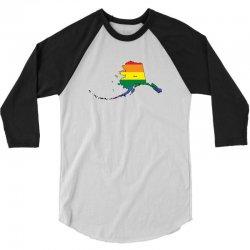 alaska rainbow flag 3/4 Sleeve Shirt | Artistshot