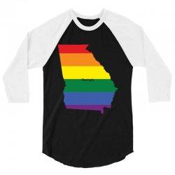 georgia rainbow flag 3/4 Sleeve Shirt | Artistshot
