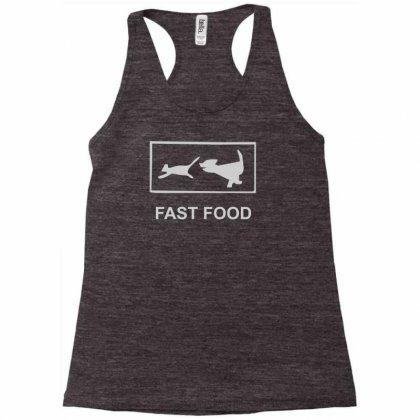 Fast Food Funny Racerback Tank Designed By Henz Art