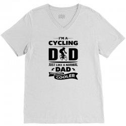 I'M A CYCLING DAD... V-Neck Tee | Artistshot