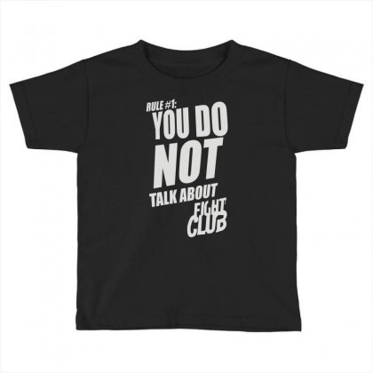 Fight Club Movie Rule 1 Toddler T-shirt Designed By Henz Art