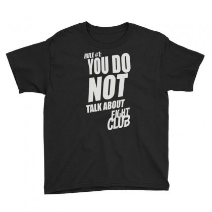 Fight Club Movie Rule 1 Youth Tee Designed By Henz Art