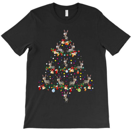 Donkey Tree Christmas T-shirt Designed By Rardesign