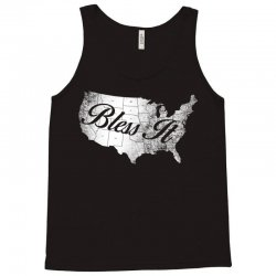 bless it usa map 4th of jully Tank Top | Artistshot