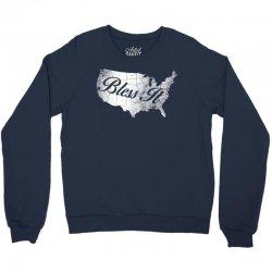 bless it usa map 4th of jully Crewneck Sweatshirt | Artistshot