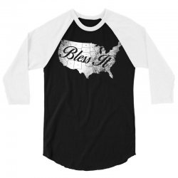 bless it usa map 4th of jully 3/4 Sleeve Shirt | Artistshot