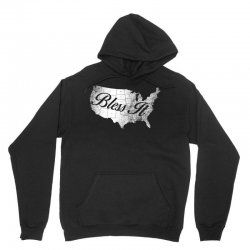 bless it usa map 4th of jully Unisex Hoodie | Artistshot