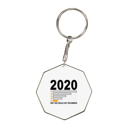 2020 Very Bad Would Not Recommend 1 Star Rating Octagon Keychain Designed By Jurdex Tees