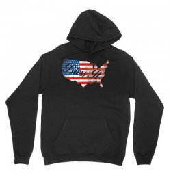 bless it usa map 4th of jully flag Unisex Hoodie | Artistshot