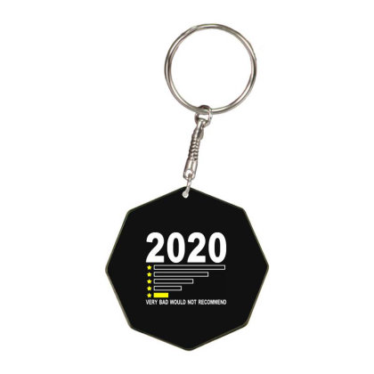 2020 Very Bad Would Not Recommend 1 Star Rating Funny Octagon Keychain Designed By Jurdex Tees