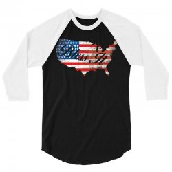 bless it usa map 4th of jully flag 3/4 Sleeve Shirt | Artistshot