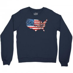 bless it usa map 4th of jully flag Crewneck Sweatshirt | Artistshot