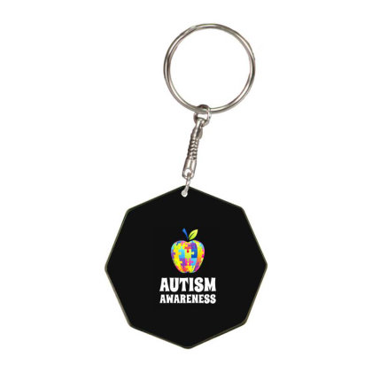 Autism Octagon Keychain Designed By Woko Art