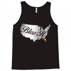 bless it usa map 4th of jully orlando strong pride Tank Top | Artistshot