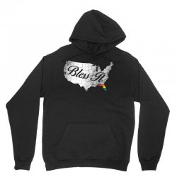 bless it usa map 4th of jully orlando strong pride Unisex Hoodie | Artistshot