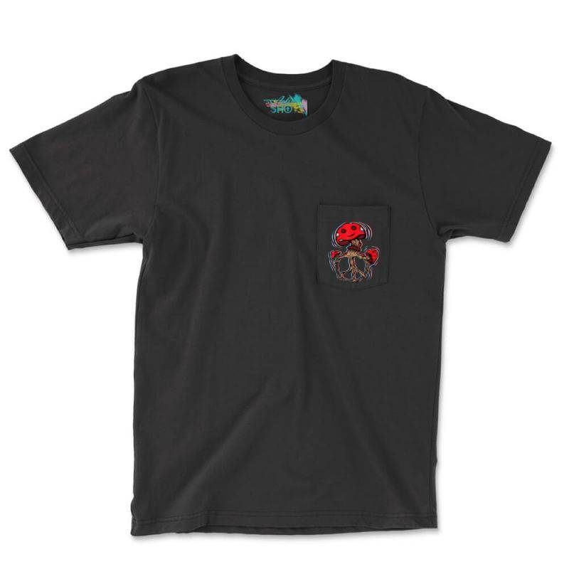 Trippy Magic Mushrooms Pocket T-shirt | Artistshot