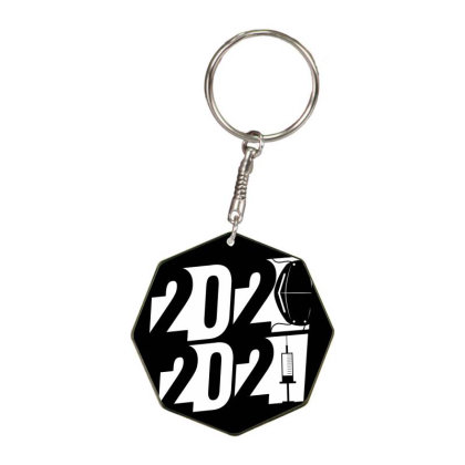 Pandemic Year Octagon Keychain Designed By Stkgok